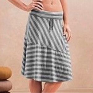 Athleta Shadow Stripe Skirt Gray 819645 small